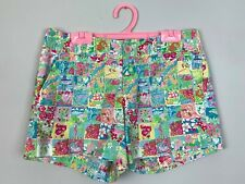 Lilly Pulitzer Callahan Short Patchwork State Print Cotton Chino Shorts Size 4 S