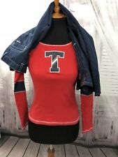 Tommy Hilfiger Girls Top Shirt Pants Set Lot Spell Out Logo Red Blue Sz 10 Large