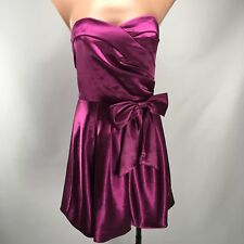 Mystic Red Violet Purple Sweetheart Bow Homecoming Cocktail Dress sz 4 Short