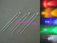 100pcs, 3mm Red Yellow Blue Green White Round Top Bright LED Leds Free Shipping