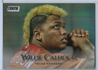2019 Topps Stadium Club Rainbow Foil Board Willie Calhoun Texas Rangers 06/25