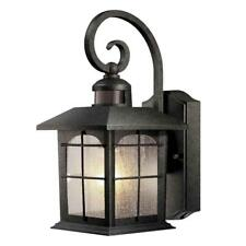 Motion Sensor Porch Light Outdoor Wall Lantern Lamp Fixture Exterior Glass Decor