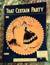 VINTAGE - THAT CERTAIN PARTY - PIANO MUSIC SCORE