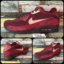 Nike Air Max 90 Ultra 2.0 Flyknit UK 13 EU48.5 875943-601 Team Red/Deep Burgundy
