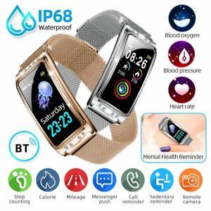 Bluetooth Smart Bracelet Watch Heart Rate Monitor Blood Pressure Fitness Tracker