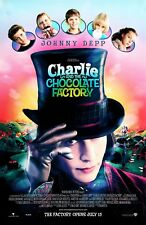 """Charlie and the Chocolate Factory movie poster (b) 11"""" x 17"""" Johnny Depp poster"""