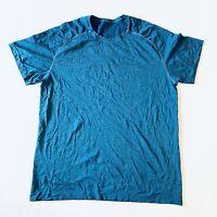 Lululemon Mens Metal Vent Tech Midnight Shadow Blue Shirt Athleisure Size XLarge