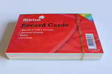 Silvine 553AC 5x3 inch Assorted Colours Record Cards - 100 Piece