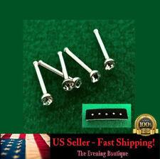 5x Crystal Rhinestone Nose Ring Bone Stud Stainless Steel Body Piercing Jewelry