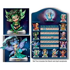 Jasmine Becket-Griffith Perpetual CALENDAR Fairy Figurine Set of 2 – MAR & APR