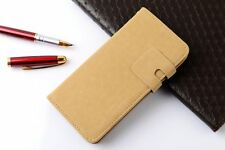 iPhone 5/5s/5se Beige Suede Leather Wallet Flip Case Cover Book