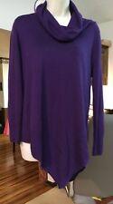 PXL Deep purple sweater, handkerchief hem Investments Petities, soft cowl turtle