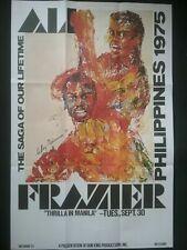 Muhammad Ali v Joe Frazier * el thriller permitido fumar en Manila Póster Grande 1975: