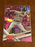 2017 Topps Chrome Baseball Pink Refractor - Chris Sale - Boston Red Sox