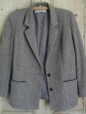 Hip Length Button Coats & Jackets Tweed Blazer for Women