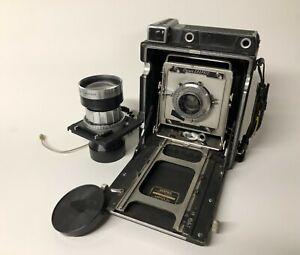 Graflex Crown Graphic 4X5 film camera with 127mm Ektar & 270mm Rodenstock lenses