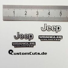 Jeep Wrangler emblemas para axial rc4wd Tamiya 1:10 RC mangos decal sticker