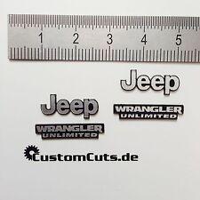 Jeep Wrangler Embleme für Axial RC4WD Tamiya  1:10 RC Scaler Decal Sticker