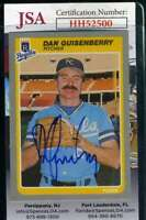 Dan Quisenberry 1985 Fleer JSA Coa Autograph Authentic Hand Signed