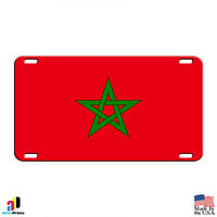 Morocco Country Flag Aluminum Metal Novelty License Plate Tag