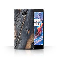 STUFF4 Case/Cover for OnePlus 3/3T/Tree Bark/Burnt Wood