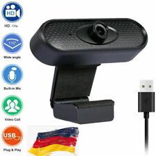 USB Kamera Full HD Webcam Mit Mikrofon Stativ für PC Laptop Computer Mac Video