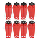 8pc 4730F Quick Release Folding Propeller Blade Prop for DJI Spark FPV Drone Red