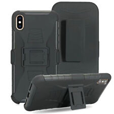 Shockproof Case w/ Belt Clip, Anti-slip Armor Defender Grip Cover+glass screen