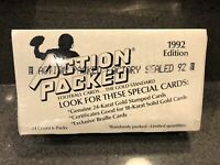1992 ACTION PACKED FOOTBALL (THE GOLD STANDARD) FACTORY SEALED BOX 18KT GOLD?