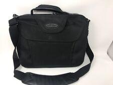 "Laptop 14"" Shoulder Bag Briefcase Case Logic Black Nylon Zip Closure, Pockets"