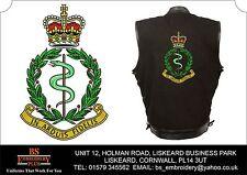 Ejército Real Médico Ejércitos Bordado Mezclilla Color Negro y piel