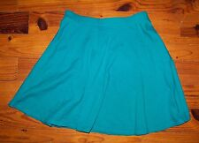 Women's Juniors FOREVER 21 Solid Green Cotton Casual Skirt Size XS