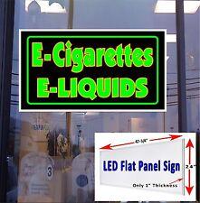 LED Sign E  Cigarettes E  liquids window sign 48x24 neon banner alternative LED
