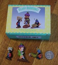 "Hallmark Merry Miniatures ""Getting Ready for Spring"" 3-Pc Set NIB Fairy Garden"