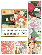 DELUXE Foil ✨ Set D, Origami Paper Sakura Kimono Flower YUZEN Cherry Blossom