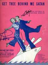 Fred Astaire Ginger Rogers JSA Coa Signed Sheet Music Autograph