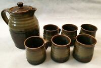 Cricklade Pottery Kay Martin Coffee Set for 6 British Studio Pottery 1960s 1970s