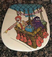 Vintage Ronald McDonald Rolling High Chair back cushion ANTIQUE Grimace 1980s
