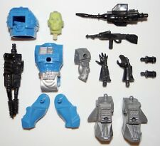 1983 Remco Mantech Action Figure Lot Of 15 Parts & Weapons