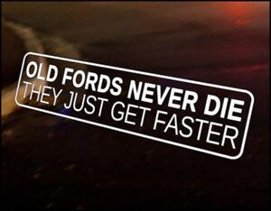 OLD FORDS Car Decal Vinyl JDM Sticker Escort Fiesta XR RS Sierra Cosworth