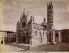 Photo Alinari Albuminé Siena Sienne Cattedrale Italie Italia Vers 1880
