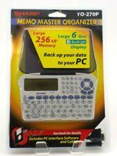 Sharp Memo Master Electronic Organizer YO 270P Factory Sealed