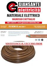 CAVO FS18 EX FROR FILO ELETTRICO PROLUNGA 3x1,5 3x2,5 3G1,5 3G2,5 AL METRO