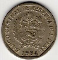 1994 PERU 1 UN NUEVO SOL NICE WORLD COIN