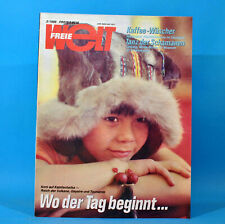 DDR Freie Welt 3/1988 Skispringen Nikaragua Kamtschatka Bertolt Brecht Berlin