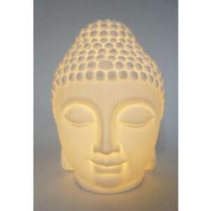 LED Deko Leuchte Buddha weiß Lampe Effektlicht Buddhismus 20 cm Leuchtdeko