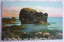 Vintage Postcard - Old Man`s Face Point, Narragansett Pier, Rhode Island