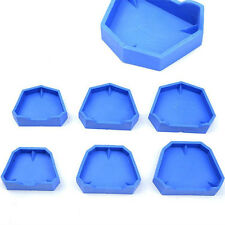 HOT ! 6 Pcs Dental Lab Model Former Base Molds With Notches Two Types 3 Sizes