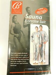 NEW Bally Total Fitness SAUNA EXERCISE SUIT One Size Fits All BF7535AV