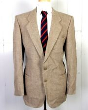 vtg Yves Saint Laurent euc Men's Beige/Gray Wool Tweed Blazer Rive Gauche 41 L